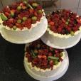 Svatební dort ovocný